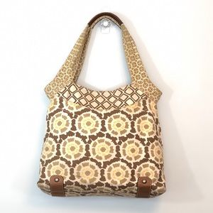 Fossil Canvas Boho Tote Bag